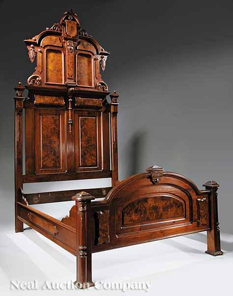 An American Renaissance Carved Walnut and