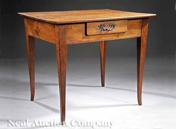 A Federal Walnut Work Table, late 18th/early