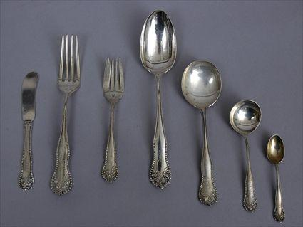 GORHAM CORPORATION MONOGRAMMED SILVER 65-PIECE