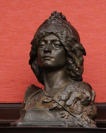 FRENCH ART NOUVEAU BRONZE-PATINATED METAL
