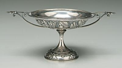 Tiffany sterling medallion compote, classical