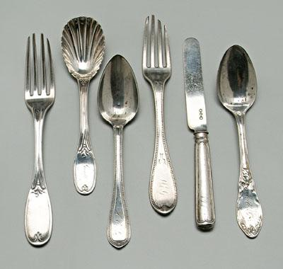 Charleston coin silver flatware: Ewan, Carrington,