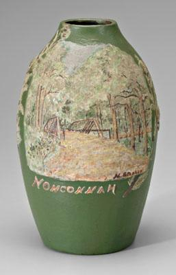 Nonconnah vase, ovoid with polychrome slip