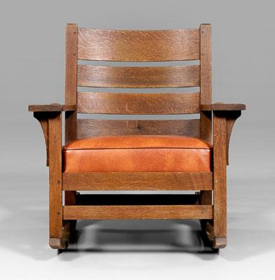 Price Guide For L Jg Stickley Rocking Chair Back Seat