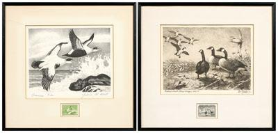 "Two Federal duck stamp prints: ""American"