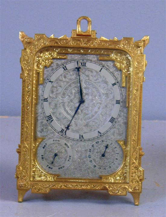 Late Victorian/early 20th century gilt brass
