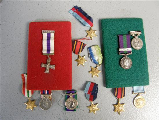 Collection of twelve miniature medals, Military