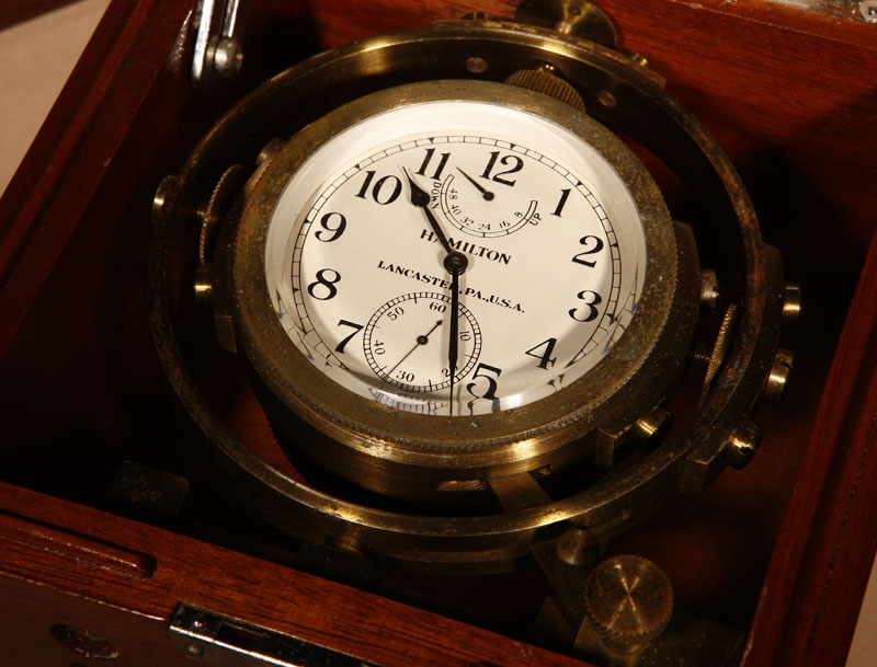 A Hamilton Marine Chronometer / Deck Watch,