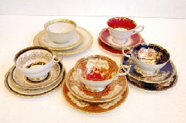 GROUP OF 5 CHINA TRIOS INCL. PARAGON AND