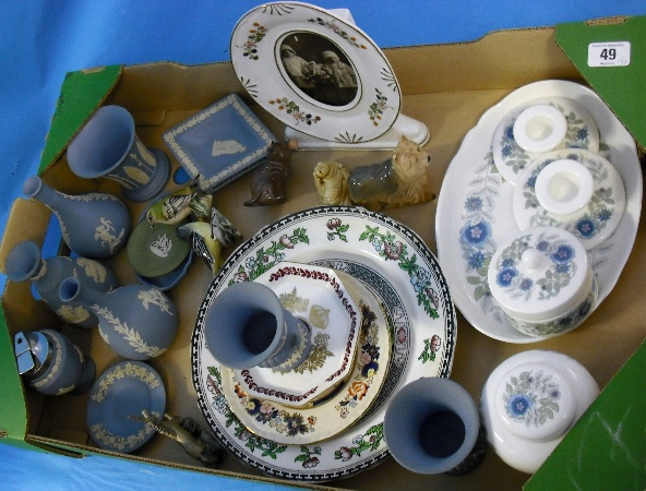 A Collection of Various Wedgwood Jasperware,