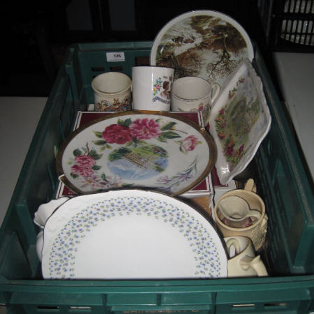 Tray of various pottery to include various