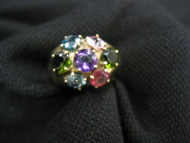 Gemstone Ring, gorgeous cluster includes