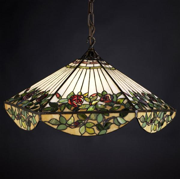 """HANDEL (Attr.) Large leaded-glass faceted"