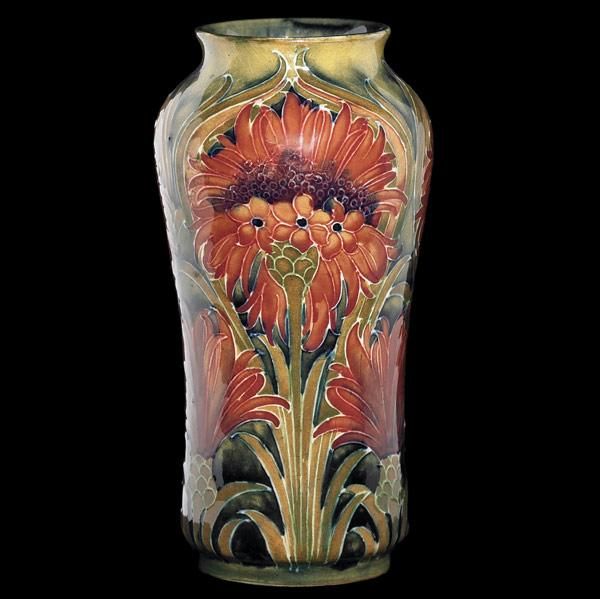 """MOORCROFT Early vase in the Cornflower design"