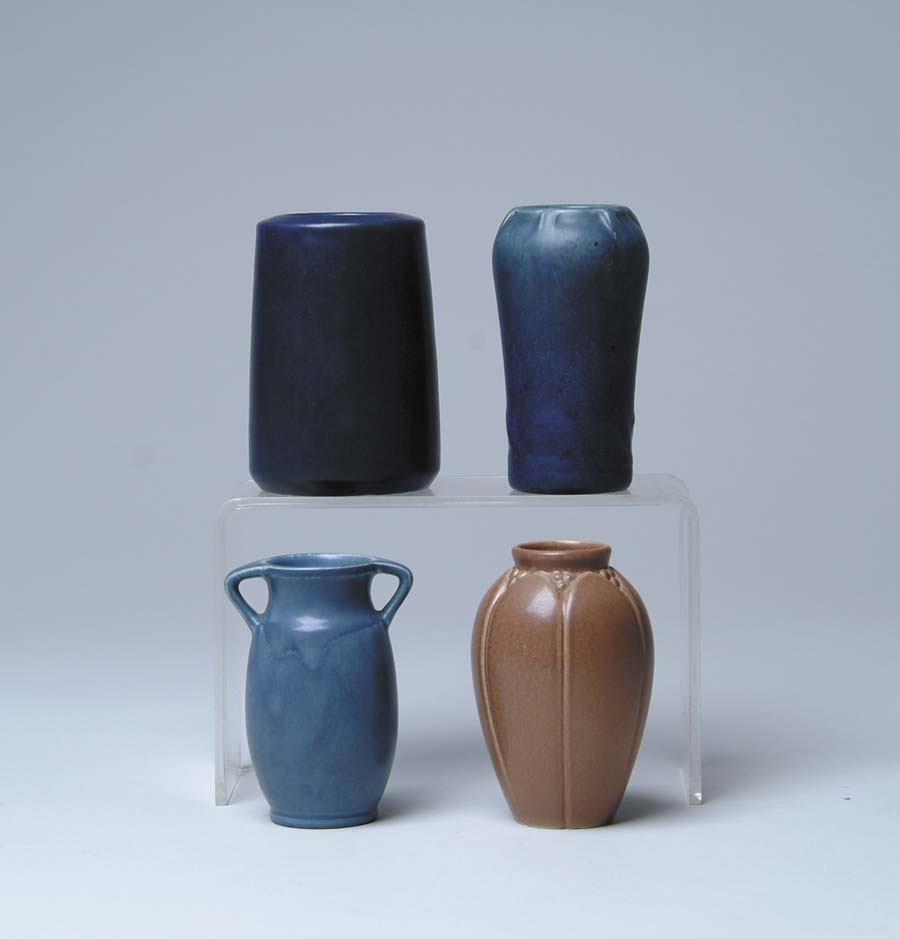 FOUR PIECES OF ROOKWOOD POTTERY. 1) Cylinder