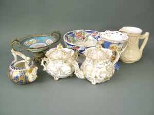 A selection of 19th century china, to include