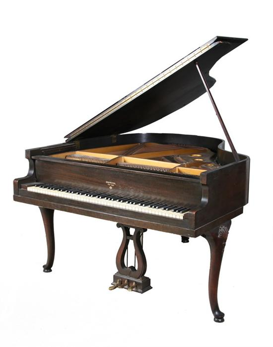 BREWSTER NEW YORK BABY GRAND PIANO, early