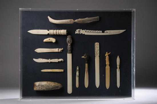 Price Guide For Collection Carved Bone And Ivory Letter Openers