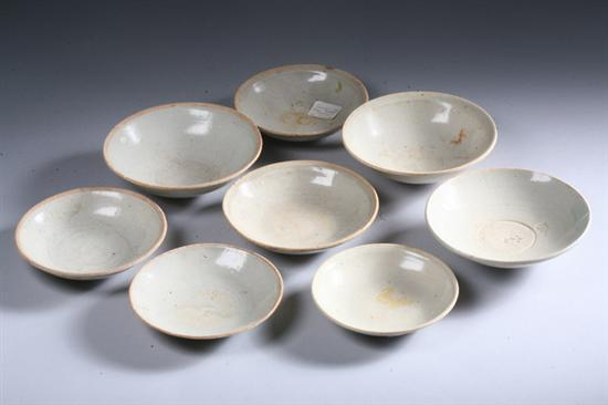 EIGHT CHINESE QINGBAI PORCELAIN BOWLS, Song