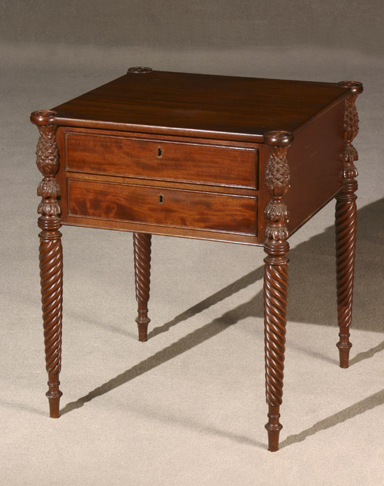 Federal Style Mahogany Work Table