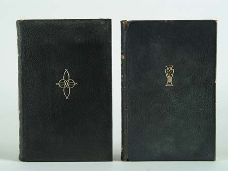TWO BOOKS. Both in decorative leather bindings.