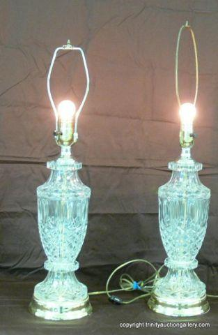 Pair of Crystal Table Lamps - nice pair of