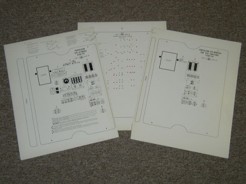 SC 104 SPS Panel.  Set of three sheets that