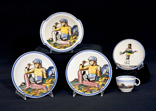 KENT, ROCKWELL. Ceramic dinnerware from the