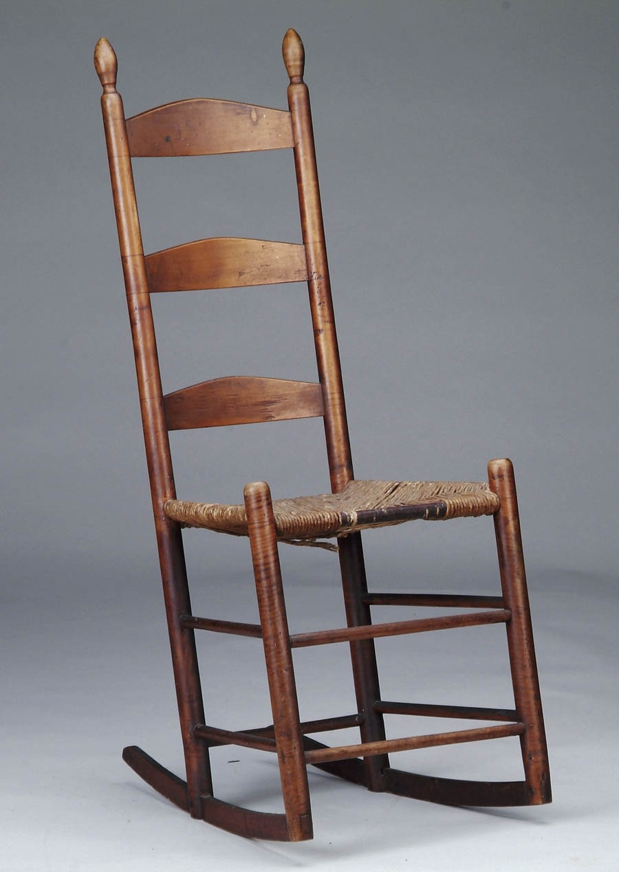 Price Guide For Antique Ladder Back Shaker Rocking Chair