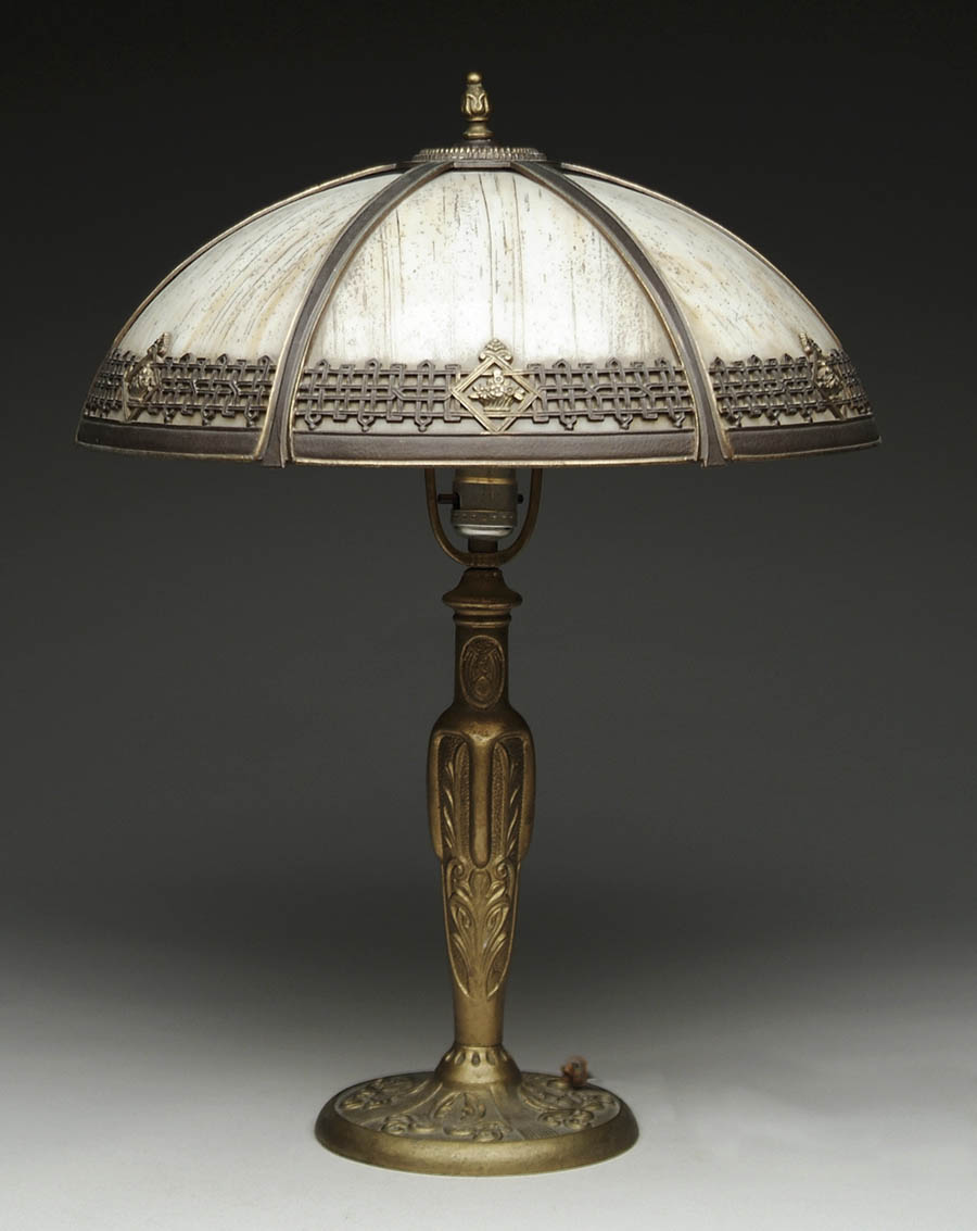 PARKER BENT PANEL TABLE LAMP. Lovely table