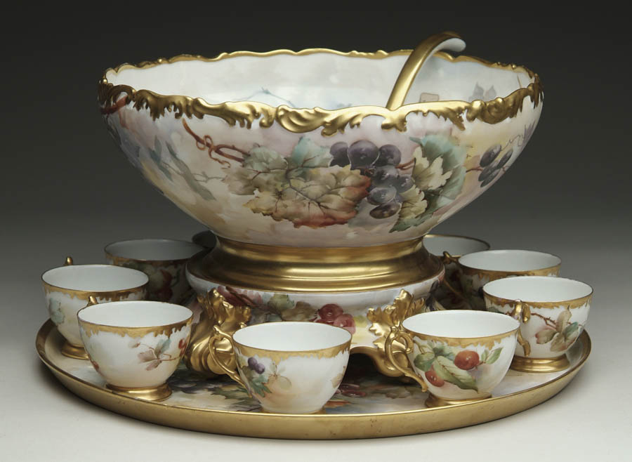 FABULOUS FOURTEEN PIECE HAND PAINTED LIMOGES