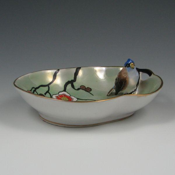 Oriental Blossom Porcelain Butter Dish