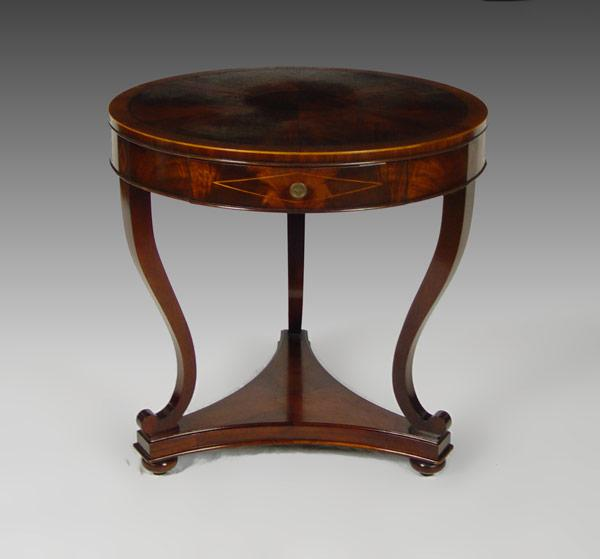 HEIRLOOM WEIMAN FLAME MAHOGANY TRIPLE PEDESTAL