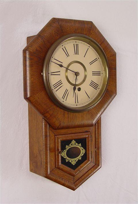 1901 ANSONIA SHORT DROP REGULATOR WALL CLOCK: