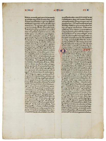 Bible in LatinA leaf from the 1462 Fust and