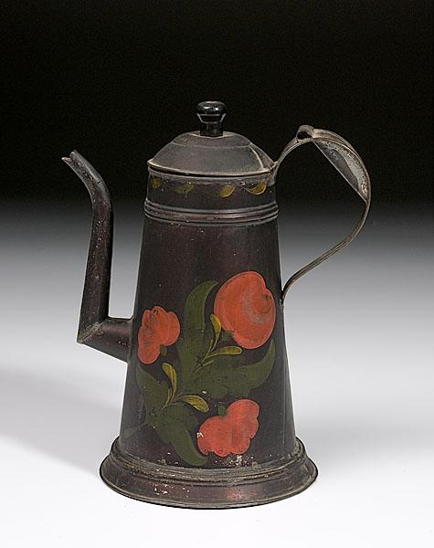 19TH-CENTURY TOLE LIGHTHOUSE-FORM COFFEE