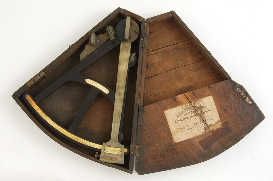 CASED BRASS AND EBONY SEXTANT 19th CenturyBy