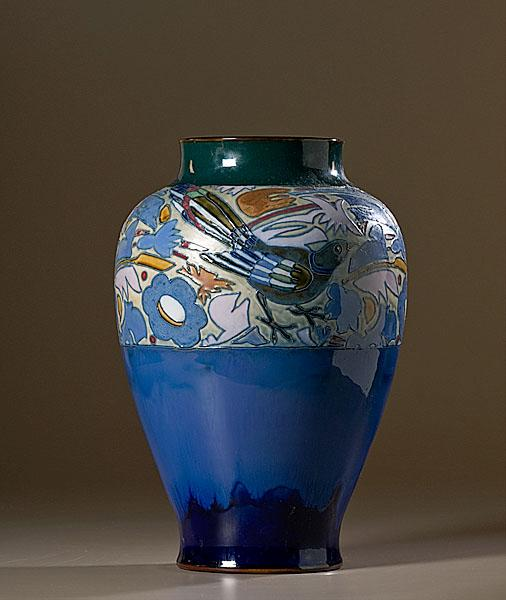 ROYAL DOULTON VASE BY HARRY SIMEON/FLORRIE