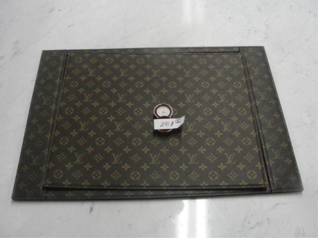 Louis Vuitton Desk Blotter and Cover together