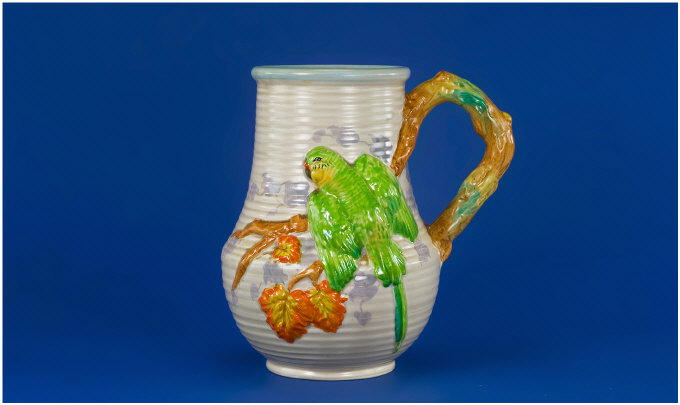 Price Guide For Clarice Cliff Parrot Jug Shape 850 Newport