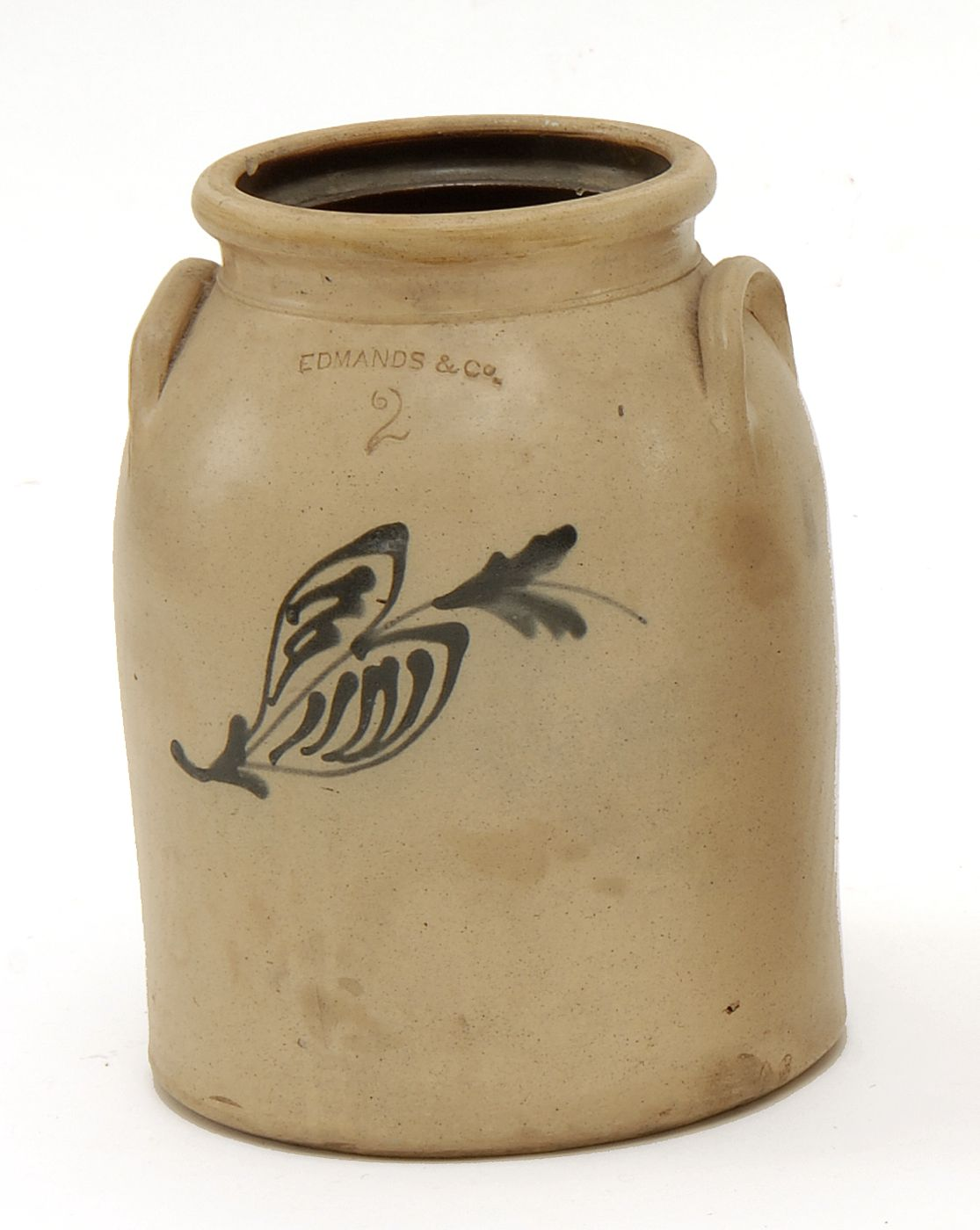 TWO-GALLON STONEWARE JAR American, 19th CenturyWith