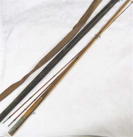 ANTIQUE BAMBOO FLY ROD, 10' two section,