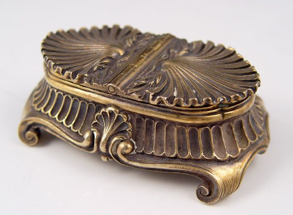 TIFFANY & CO. STERLING INKWELL: Shell form