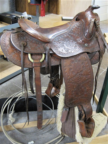 Price guide for MACPHERSON WESTERN SADDLE, hand tooled leather