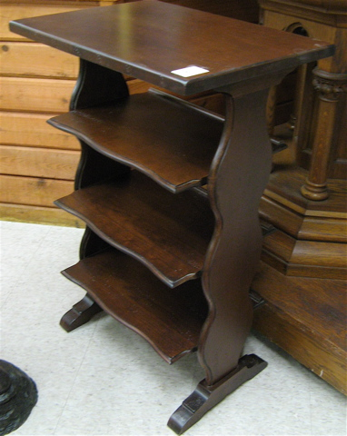 Charlestowne Square Book Stand Broyhill Furniture Industries A 4 Tier With Open Shelves And Brown Cherry Finish Dimensions 34 25 H X 22 W