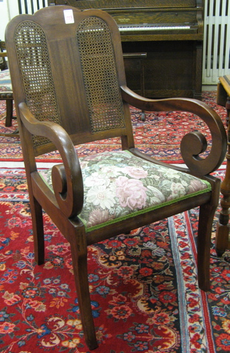 TWO EMPIRE STYLE ARMCHAIRS, American, first
