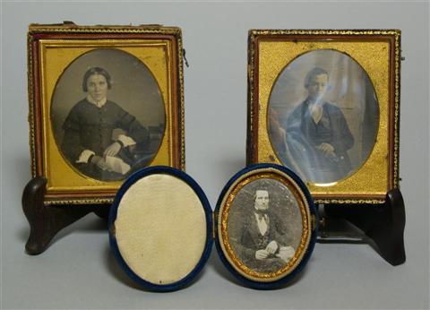 GROUP OF FOURTEEN CASED DAGUERREOTYPES DEPICTING