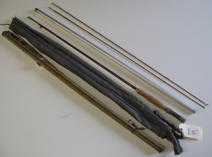 "LOT OF TWO BAMBOO FLY RODS; the first ""Montague"