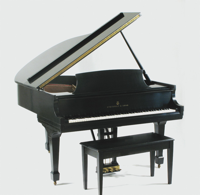 STEINWAY BABY GRAND PIANO WITH BENCH, model