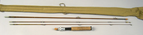 Hardy Saint Croix bamboo fly rod, two pieces